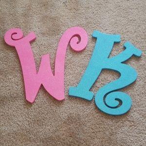Hobby Lobby Other - K&W Glitter letters